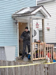 Colchester police investigate the scene of a shooting
