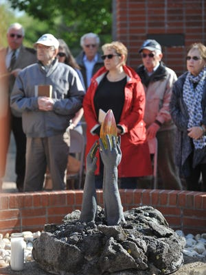 Yom HaShoah observance at the Wall of Rememberance Memorial, Sunday, May 8, 2016 at Alliance Cemetery in Pittsgrove.