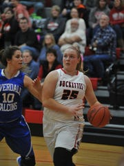 Courtney Pifher drives to the basket.