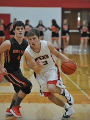 Max Loy drives to the basket.