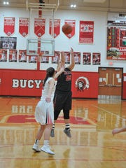 Buckeye Central's Courtney Pifher shoots a 3-pointer