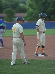 Neil Schaffner coaches a doubleheader against Grand