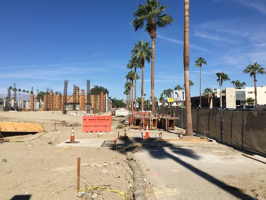 The Andaz Hyatt construction site in Palm Springs in