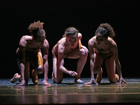 Dance Theatre of Harlem members, from left, Stephanie
