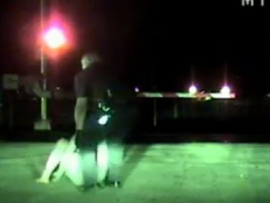 Officer saves woman