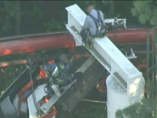 Roller-coaster derails