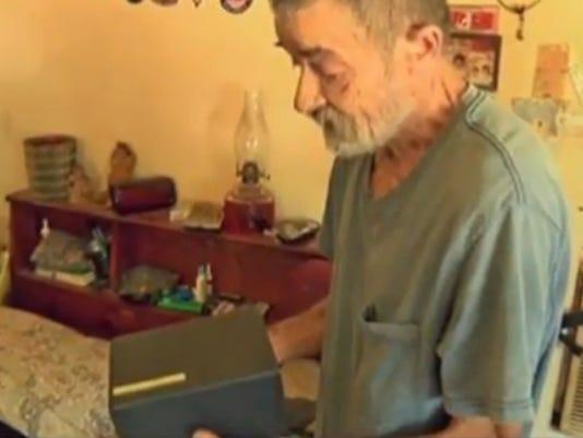 Burglar smokes ashes