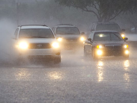 Drivers in storm