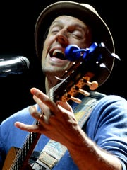 """Two-time Grammy-winning musician kicked off his national tour, """"An Evening with Jason Mraz, Solo Acoustic."""" Saturday evening at the Shreveport Municipal Auditorium."""
