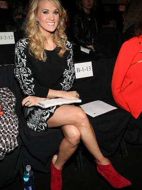 Carrie has a front row seat for the  Rebecca Minkoff