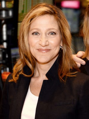 Actress Edie Falco rings The NYSE Opening Bell at New York Stock Exchange on April 2, 2015 in New York City.