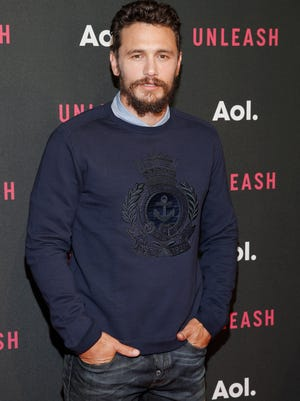 James Franco attends the AOL NewFront.