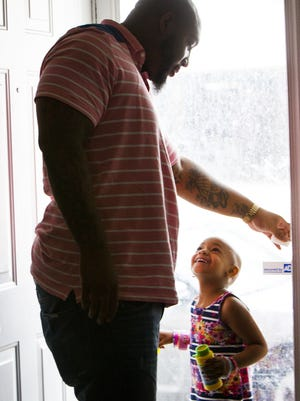 Devon Still accepted an ESPY on behalf of his daughter, Leah, as she has battled neuroblastoma.