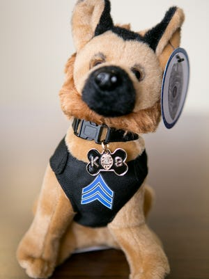 Sgt. Diego, a stuffed K-9 collectible, will be on sale again in Wisconsin Rapids.