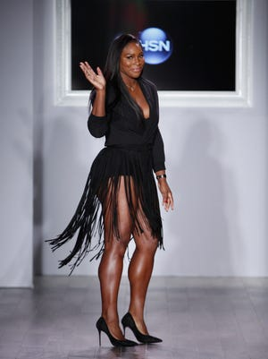 Tennis star and designer Serena Williams at her fashion show in New York on Tuesday.