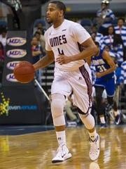 Guard Devin Martin at the 2015 MEAC Men's Basketball