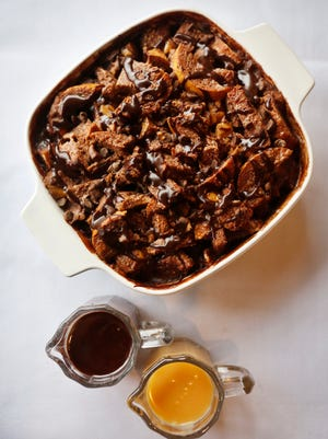 The chocolate bread pudding at the Uptown Cafe.