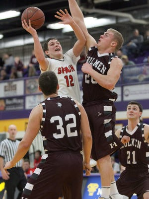 SPASH's Trev Anderson and his teammates open the playoffs Friday, looking to win a second straight WIAA Division 1 state boys basketball title.