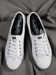 Here are Keds for the new age. White but a touch cooler. $29.95 at Steinmart, 5055 Shelbyville Road