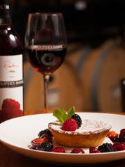 Ooey gooey butter cake is paired with wine at the new Cooper's Hawk Winery & Restaurant in Naples.
