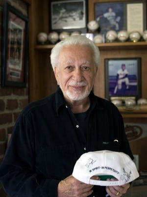 In this May 23, 2006 file photo, Ozzie Silna poses for a photo at his home in Malibu, Calif. Ozzie Silna, who turned a fading American Basketball Association team into a four-decade cash cow worth nearly $800 million in NBA money, has died at age 83, Tuesday, April 26, 2016.