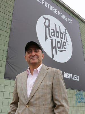 Kaveh Zamanian at the future home of Rabbit Hole Distillery between Jefferson and Market Streets.