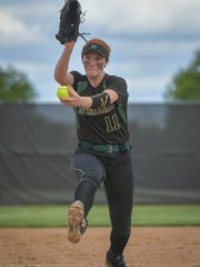 Oshkosh North fires a pitch to the plate during Thursday's