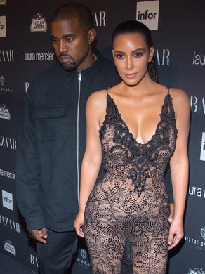 West and Kardashian attend the Harper's BAZAAR Celebrates ICONS By Carine Roitfeld party at The Plaza Hotel on September 9, 2016.