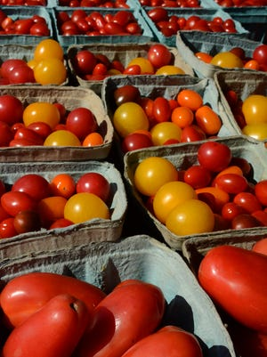 Tomatoes by the thousands fill display space. The Marco Island Farmers' Market takes place at Veterans Community Park every Wednesday through next April, from 7:30 a.m. until 1 p.m.
