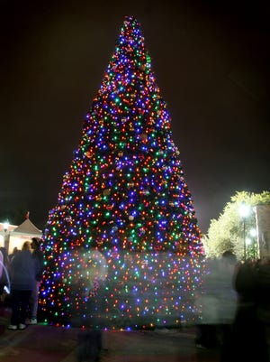 The first photo is of the plaza tree, which will be lit for the first time on Friday night.