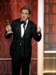 Hugh Laurie accepts his award for best supporting actor
