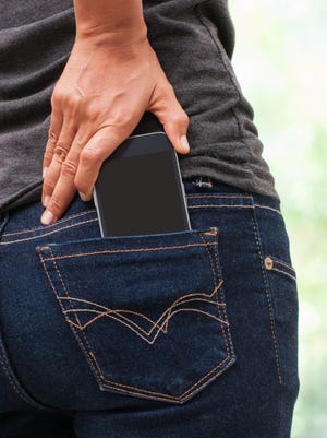 A pocket may not be the best place to keep your cellphone.
