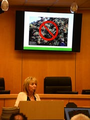 Master Gardener Maria Schoenfelder warns against invasive plants. Marco Island's Beautification Advisory Committee held their annual Community Forum Wednesday at the police station, focusing on water conservation.