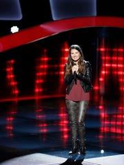 """Country singer-songwriter Sheena Brook at the blind auditions for """"The Voice"""""""