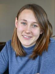Abbie Merrill, a senior at Oshkosh West  High School