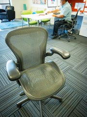 Pictured is the Aeron Chair -- a highly adjustable