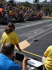Middle school students compete in the solar car races. On Saturday, May 13, over 300 students from every public school in Collier County competed in the STEAM Conference at the FSW campus in East Naples.