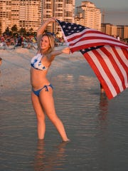 File: Marco Island celebrates Independence Day at the beach.