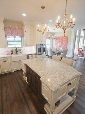 """The kitchen at the home of Jim and Teresa Luther. The home, called """"Summerly,"""" is featured on the 2017 Homearama tour in Goshen, Kentucky."""