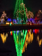 The annual Oshkosh Celebration of Lights is pictured in Menominee Park.