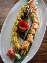 A sushi platter from Danny's Steakhouse in Red Bank,