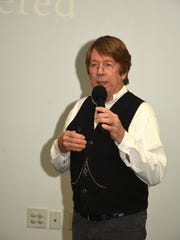 """Patrick Smith Jr., son of author Patrick Smith, dresses for the part. Nearly 100 people came out to the Rookery Bay Environmental Learning Center on Tuesday, Nov. 21 for a presentation on """"A Land Remembered,"""" a beloved book on Florida history."""