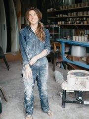 Coco Barrett-Tormey in her Santa Cruz studio
