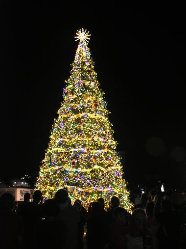 The Christmas Island Style tree-lighting ceremony Saturday