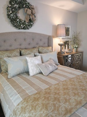 A bedroom at the home of Sandy Case and Kay Powell in Louisville, KY. Nov. 29, 2017