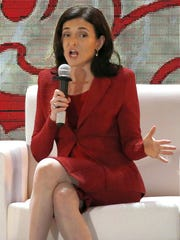 Sheryl Sandberg, COO of Facebook, at a business conference