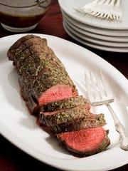Beef tenderloin with porcini sauce
