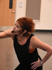 Judy Waltz leads the class. Essentrics is one of the