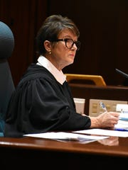 Actual Judge Christine Greider presides over the final