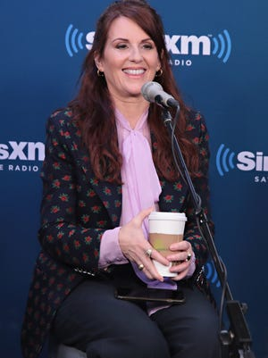 """NEW YORK, NY - SEPTEMBER 25:  Actress Megan Mullally takes part in SiriusXM's """"Town Hall"""" with the cast of """"Will & Grace"""" hosted by Andy Cohen on September 25, 2017 in New York City.  (Photo by Cindy Ord/Getty Images for SiriusXM)"""